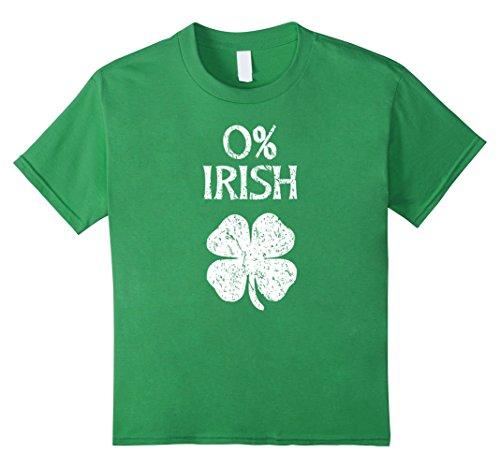 Kids 0% Irish Vintage St. Patrick Day T Shirt 12 Grass