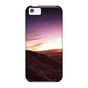 NikRun Iphone 5c Well-designed Hard Case Cover Sunset Mountains Protector