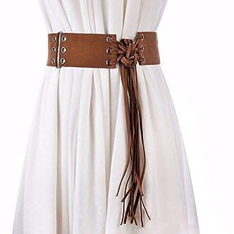 Crystallly Cinturón Ancho Para Flecos Mujer Con Cinturón Corbata ...