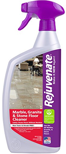 Amazoncom Rejuvenate Marble Granite And Stone Floor Cleaner - How to clean marble floors without streaks