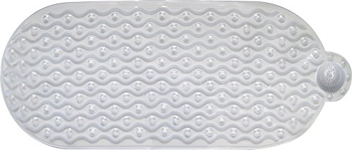 Ginsey Home Solutions AquaTouch Wavy Hair Catcher Bath Mat, Large 15' x 37'