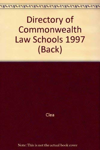 Directory of Commonwealth Law Schools 99/00 (Back) Clea