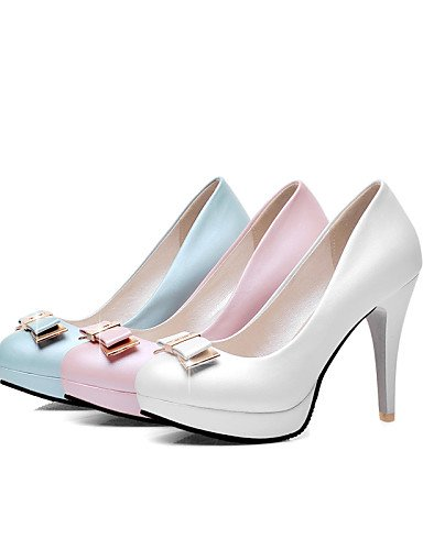 Punta y Oficina uk8 5 Rosa pink Zapatos Azul Redonda Blanco 5 ZQ eu42 5 cn43 Stiletto uk8 mujer us10 eu42 Tacones PU de Casual Tacones us8 eu39 cn39 uk6 cn43 pink Tac¨®n us10 5 Trabajo pink dvTdqzYfw
