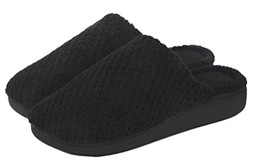 Blubi Womens Coral Comfortable Bedroom Slippers Home Slippers Black lTi0IbpXtB
