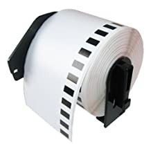 Eseller Direct® Brother DK2205 Compatible Continuous White Wide Tape 2.4 Inch X 100 Foot (62mm X 30.4m) label Roll for Brother label printer QL-700 QL-500 QL 550 QL 570 QL 1050 QL 1060 with black color Cartridge Holder
