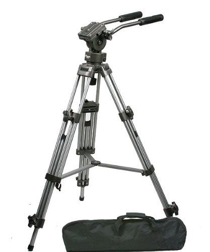 ePhoto Professional Heavy Duty 75mm Video Camera Tripod with Fluid Drag Pan Head ()