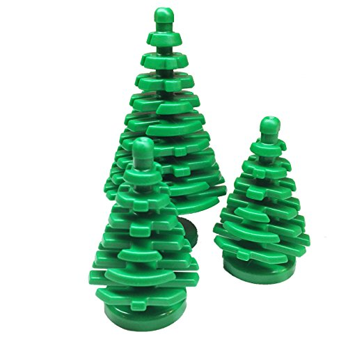 Lego-Parts-Forest-Bundle-Pack-1-Plant-Tree-Pine-Large-4-x-4-x-6-23-2-Plant-Tree-Pine-Small-2-x-2-x-4-Green