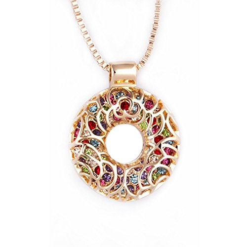 NL-07066C2 2016 Alloy Fashion Geometric Inlaid Crystal Women Necklace
