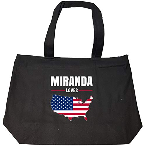 Miranda Loves Usa 4th July Independence Day Gift - Tote Bag With Zip