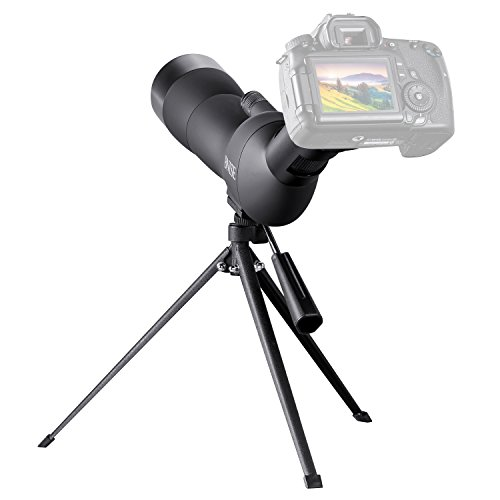 BNISE Spotting Scope for Bird Watching,60mm-wide objective Telescope, 20-60 Times Amplification, a Tripod and Photography Accessories, Suitable for Bird-watching, Hunting and Aiming, Black by BNISE