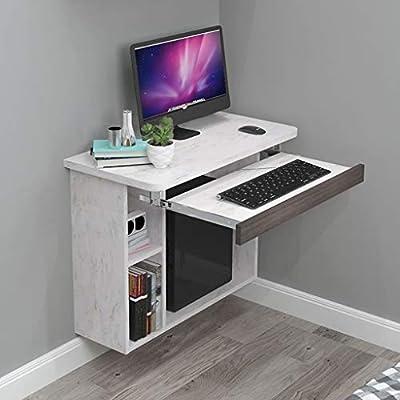 Estante Escritorio de computadora de pared flotante Escritorio de ...