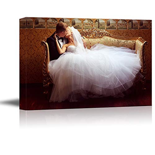 (NWT Custom Canvas Prints with Your Photos for Wedding, Personalized Canvas Pictures for Wall to Print Framed 16x24 inches)