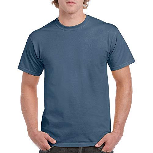 Gildan Men's Heavy Cotton Adult T-Shirt, 2-Pack, Indigo Blue, X-Large