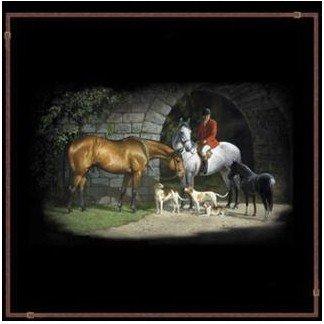 Fox Hunt SHOWER CURTAIN Equestrian Bathroom Decor Bath