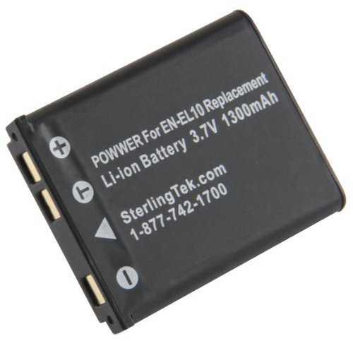 STK EN-EL10 Battery Replacement for Nikon Coolpix S3000, S4000, S220, S570, S210, S230, S60, S205, S80, S200, S600, S5100, S520, S700, S500, S510 ()