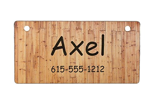 C012P Wood Fence Design Crate Tag Personalized with Your Dog's Name
