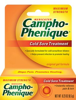 Campho-Phenique Cold Sore Treatment Original Gel Formula 0.23 Oz (Pack of 6)