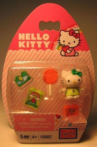 Mega Bloks Hello Kitty Frog With Orange Lollipop #10882 by Mega Brands