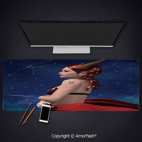 Large Mouse pad with Premium-Textured Cloth,Non-Slip Rubber Base,31.5