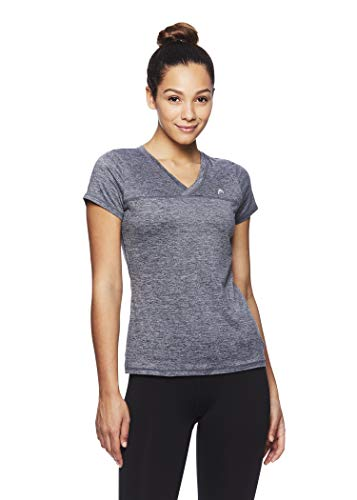 HEAD Womens Perfect Match Short Sleeve Workout T-Shirt - Performance V-Neck Activewear Top