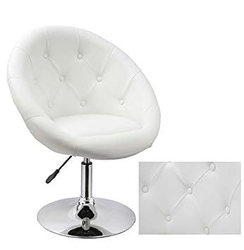 Drehsessel höhenverstellbar  Sessel in Weiß höhenverstellbar Kunstleder Clubsessel ...