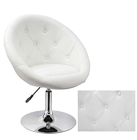 Sessel weiß  Sessel in Weiß höhenverstellbar Kunstleder Clubsessel ...