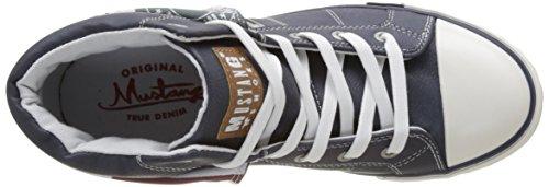 Mustang 1146-503-800, Zapatillas Altas para Mujer Azul (800 Dunkelblau)
