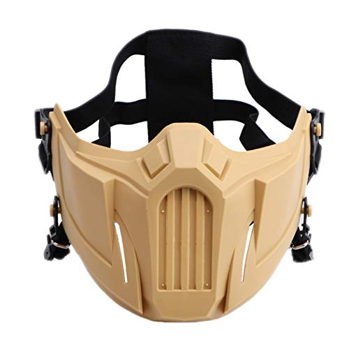 Fansport Airsoft Mask Creative Protective Half Face Mask Outdoor Game Mask Costume Mask Outdoor Sports Masks