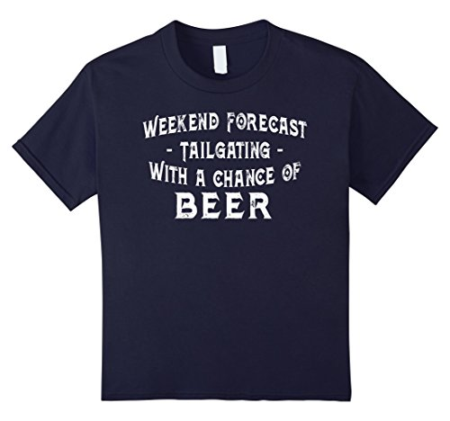 Kids Weekend Forecast Tailgating With Beer | Funny Tailgater Tee 12 (Tailgating Ideas)