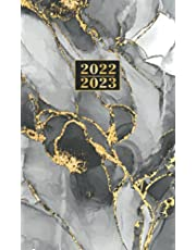 2022-2023: Monthly Pocket Planner 24-Month Calendar JANUARY 2022 - DECEMBER 2023 | Two-Year Agenda Schedule for Purse | Small Appointment Organizer | Black Gold Marble Cover
