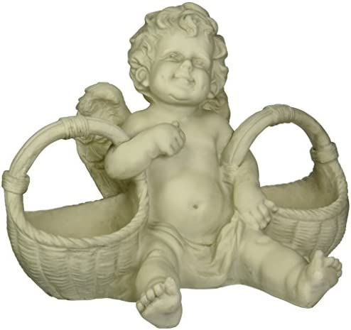 Design Toscano SH38010413 Basket of Treats Cherub Statue