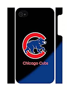 Iphone 4s Case Chicago Cubs Baseball Team Logo Collection 3D Print Cellphone Cover, Individualized Snap On Case Cover for Iphone 4/4s