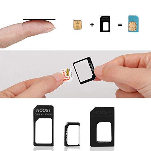 BFHCVDF Adaptador 3 en 1 Nano SIM a Micro Adaptador SIM Est/ándar MICROSIM Adaptador Negro
