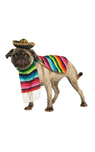 Rubie's Pet Costume, Large, Mexican Serape by Rubie's (Pet Mexican Serape And Sombrero)