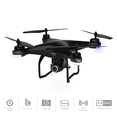 Best Choice Products 2.4G FPV RC Quadcopter GPS Drone w/ 720P Live HD Wifi Camera, VR Headset Compatible, Follow Mode, One-Key Takeoff/Landing, Auto-Return, Headless Mode, Altitude Hold, Extra Battery from Best Choice Products