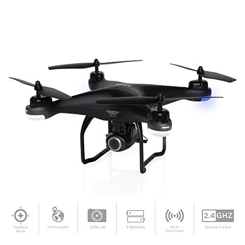 Best Choice Products 2.4G FPV RC Quadcopter GPS Drone w/ 720P Live HD Wifi Camera, VR Headset Compatible, Follow Mode, One-Key Takeoff/Landing, Auto-Return, Headless Mode, Altitude Hold, Extra Battery
