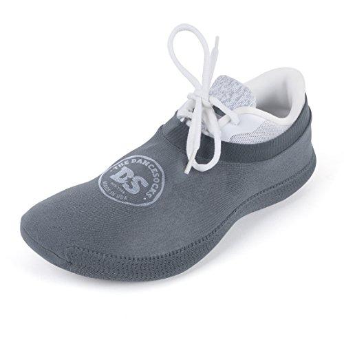 THE DANCESOCKS - Over Sneaker Socks for Dancing on Carpeted Floors (Dark Grey)