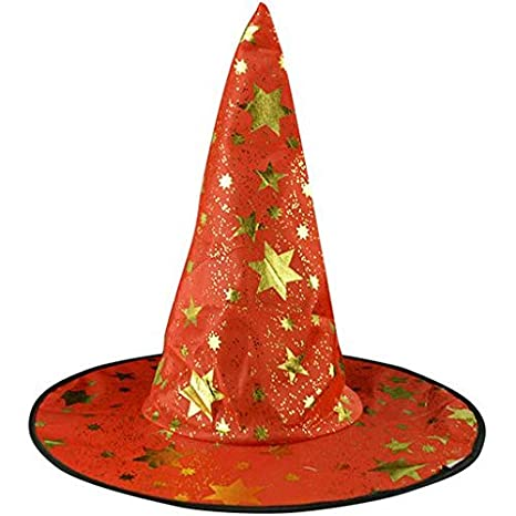 Expxon Wicked Witch Accessory Adult One Size Halloween Costume Accessory Stars Printed Cap Halloween Capes caps Adults