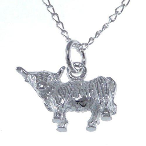Charm Pendentif Vache Argent sterling 925//1000