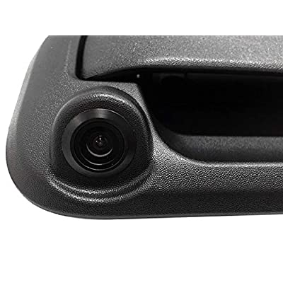 Master Tailgaters Black Metal Tailgate Handle with Backup Camera Replacement for Ford F150, F250, F350, F450, F550 2005-2016: Car Electronics