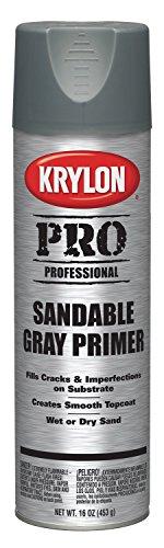Krylon K05873 Professional All Surface Primer, Gray Sandable, 16 Ounce