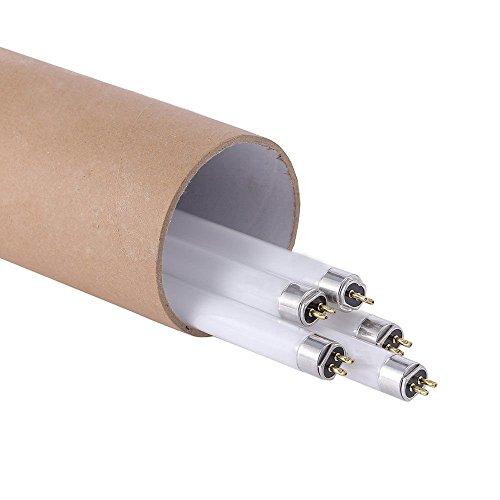 TopoGrow 5-Pack T5 2FT 24W Grow Light Kit bulbs Fluorescent Lighting Kit W/ Day HO Fluorescent Tubes-6500K