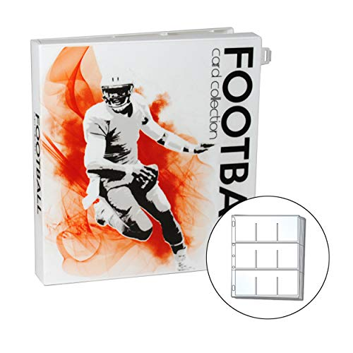 UniKeep Football Trading Card Collection Binder - Holds up to 180 Standard Size Cards (2 per Pocket)