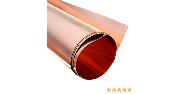 Pomcat 99.9/% Pure Copper Cu Metal Sheet Foil For Handicraft Aerospace 0.1x200x1000mm