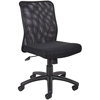 Superieur Boss Office Products B6105 Budget Mesh Task Chair Without Arms In Black