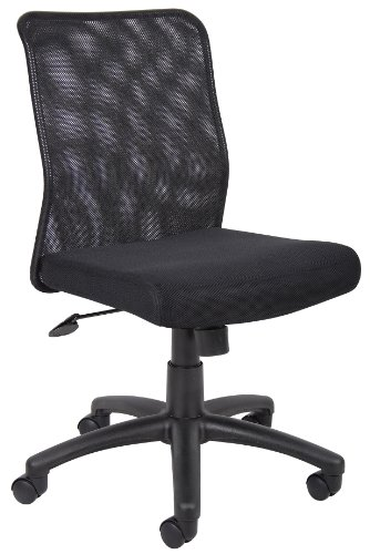 Boss Office Products B6105 Budget Mesh Task Chair without Arms in Black by Boss Office Products