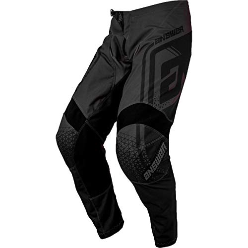 Premium Motocross Pants - Answer Racing A19 Syncron Drift Youth Boys Off-Road Motorcycle Pants - Charcoal/Black / 26