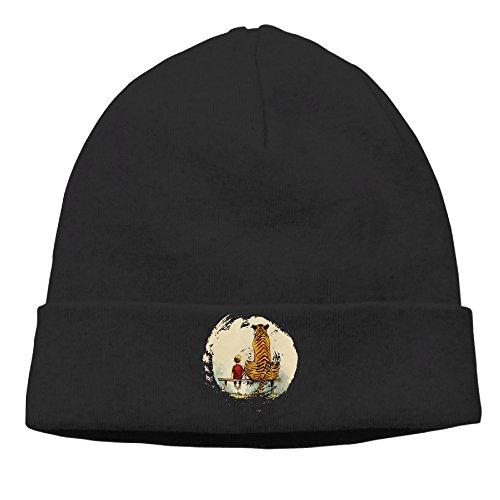 [OPUY Unisex Calvin And Hobbes Thomas Tiger Beanie Cap Hat Ski Hat Cap Skull Cap Black] (Hobbes Costumes For Sale)