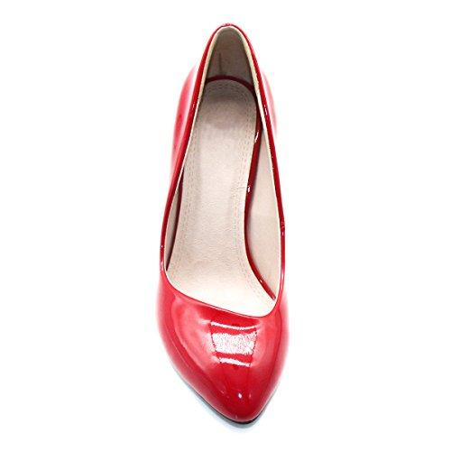 High Proelegant ZAPROMA Wedding Pumps Red Heel Shoes Woman Womens qpwCExfw7