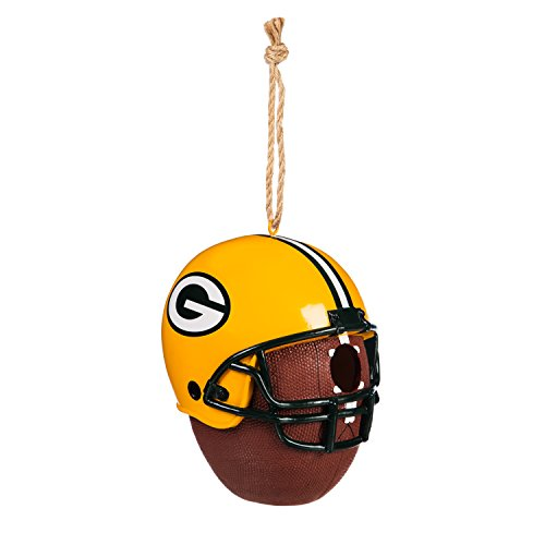 Team Sports America Green Bay Packers Team Logo and Ball Hanging Birdhouse